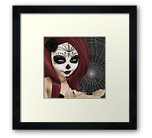 Black Widow Sugar Doll Framed Print