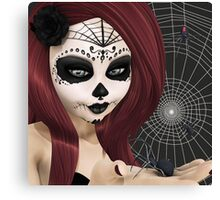 Black Widow Sugar Doll Canvas Print