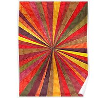 Abstract Art Study - Red Starburst Poster
