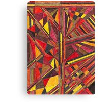 Abstract Art Study - Reds & Yellows Canvas Print