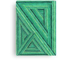 Abstract Art Study - Green Stripes Canvas Print