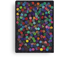 Abstract Art Study - Circles On Black Canvas Print