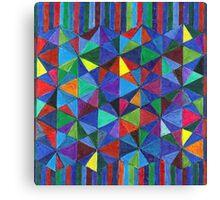 Abstract Art Study - Diamonds & Stripes Canvas Print