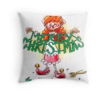 Scrappin Elf Throw Pillow