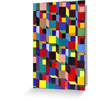 Abstract Art Study - Colorful Blocks Greeting Card