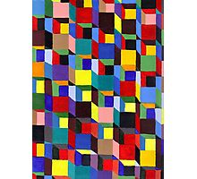 Abstract Art Study - Colorful Blocks Photographic Print