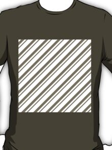 WarmGrey Thin Diagonal Stripes T-Shirt