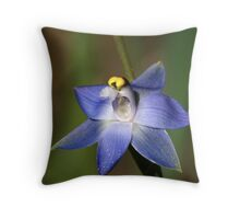 Trim Sun orchid (Thelymitra peniculata) Throw Pillow
