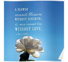 A Flower Cannot Blossom Max Muller Quote Poster