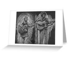 Wesley Anne guitar studies - Emma Heeney and Justin Heazlewood Greeting Card