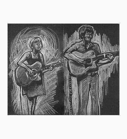 Wesley Anne guitar studies - Emma Heeney and Justin Heazlewood Photographic Print