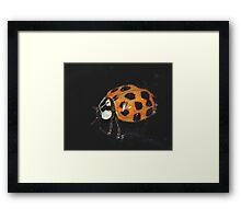 A Lady Bug in November... Framed Print