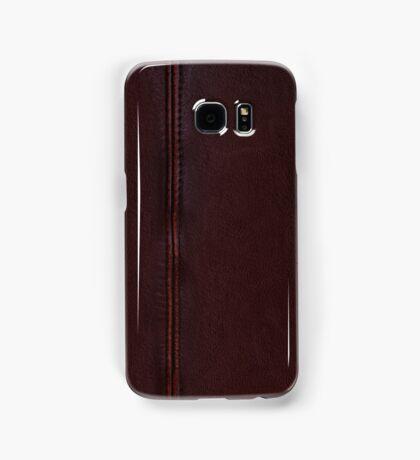 Burgundy leather Samsung Galaxy Case/Skin