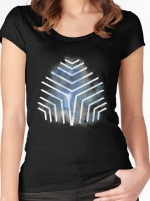 Graphic Nebula Blue Women's Fitted Scoop T-Shirt