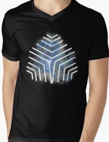 Graphic Nebula Blue Mens V-Neck T-Shirt