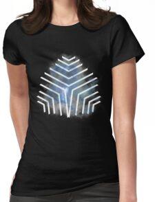 Graphic Nebula Blue Womens Fitted T-Shirt