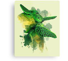 Gliding the Green Metal Print
