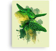 Gliding the Green Canvas Print