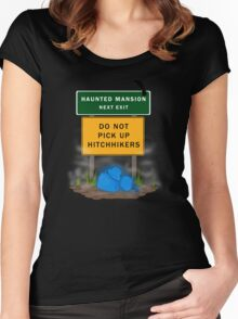 Beware of Hitchhiking Ghosts Women's Fitted Scoop T-Shirt