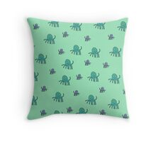 Octopus World Throw Pillow