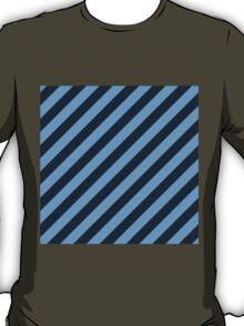 Navy Thick Tinted Diagonal Stripes T-Shirt