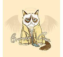 Grumpy Cas Photographic Print
