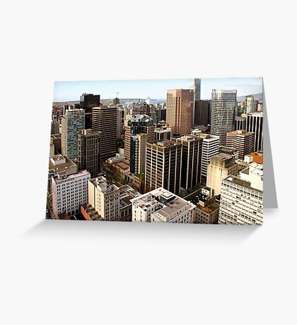 Downtown Skyscrapers from Harbour Tower, Vancouver City, Canada  Greeting Card