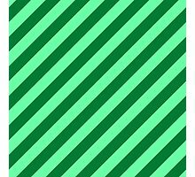 Green Thick Tinted Diagonal Stripes Photographic Print