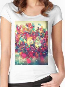 The Rainbow Cloud Women's Fitted Scoop T-Shirt
