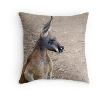 Red Roo Throw Pillow
