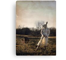 Country Rabbit Canvas Print