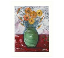 Green Vase Art Print