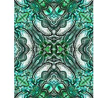 Teal abstract metallic Photographic Print