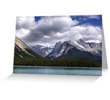 Mountains-Lake Maligne Greeting Card