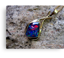 Black Opal Pendant Canvas Print