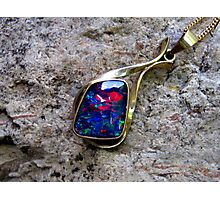 Black Opal Pendant Photographic Print