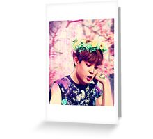 Jimin flowers Greeting Card