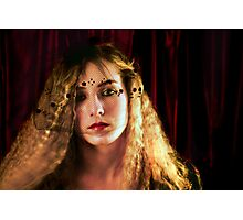 Phillipa and the Red Curtain Photographic Print