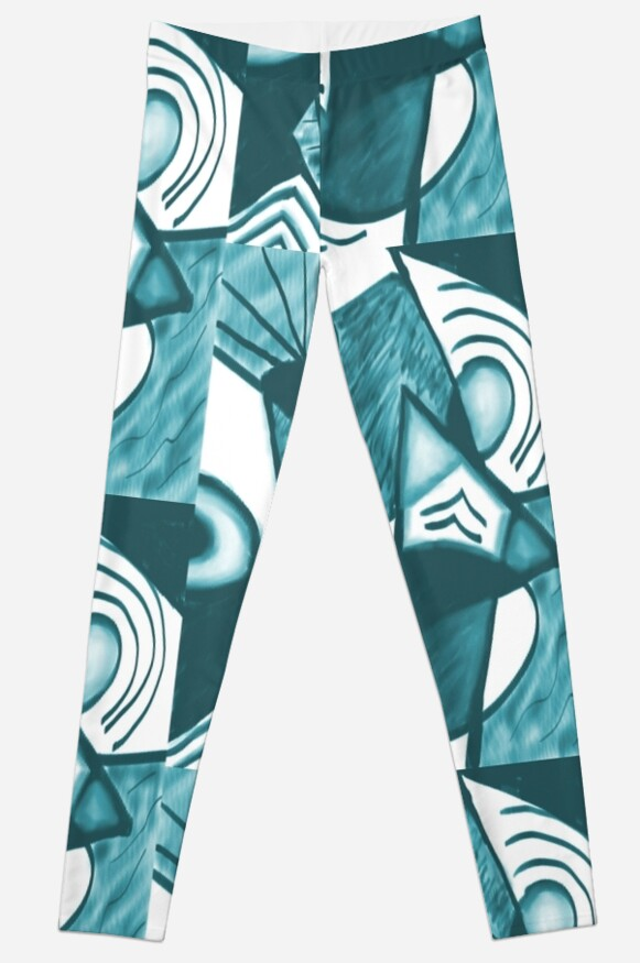 Water Ballet Abstract in Aqua by Sarah Countiss