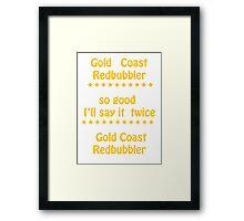 Gold Coast  Tee  Framed Print