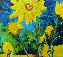 Golden Sunflowers by terrilee