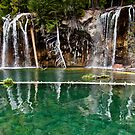 High season at Hanging Lake by Josh Dayton