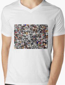 Elvis presley collage Mens V-Neck T-Shirt