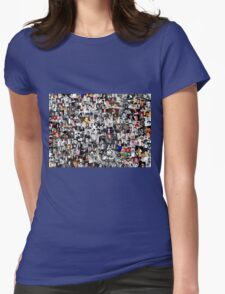 Elvis presley collage Womens Fitted T-Shirt