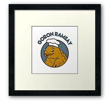 Goron Ramsay Framed Print
