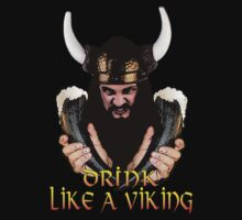 Viking Beer Drinker by calroofer