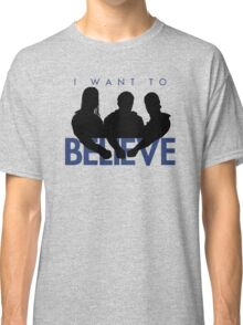 I Want to Believe (White) Classic T-Shirt