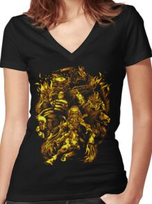 Four Horsemen of the Sci Fi Apocalypse Women's Fitted V-Neck T-Shirt