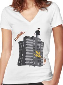 Rudy 2's Sweater Women's Fitted V-Neck T-Shirt