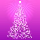 Merry Christmas Card - Pink by Adriana Glackin